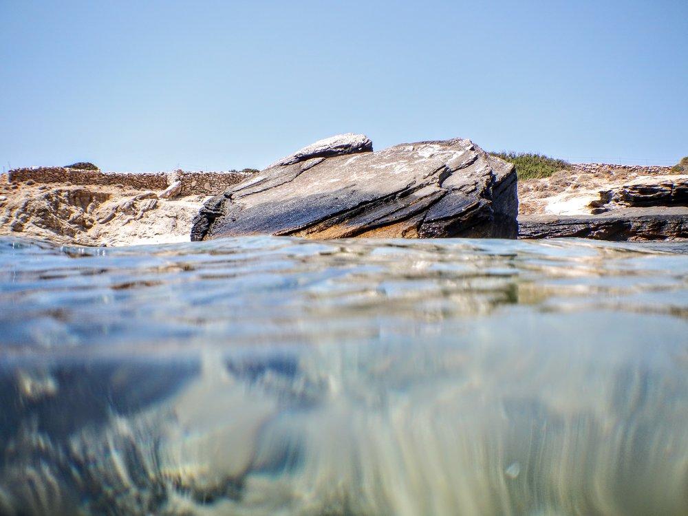 Crystal clear waters at Farangas beach