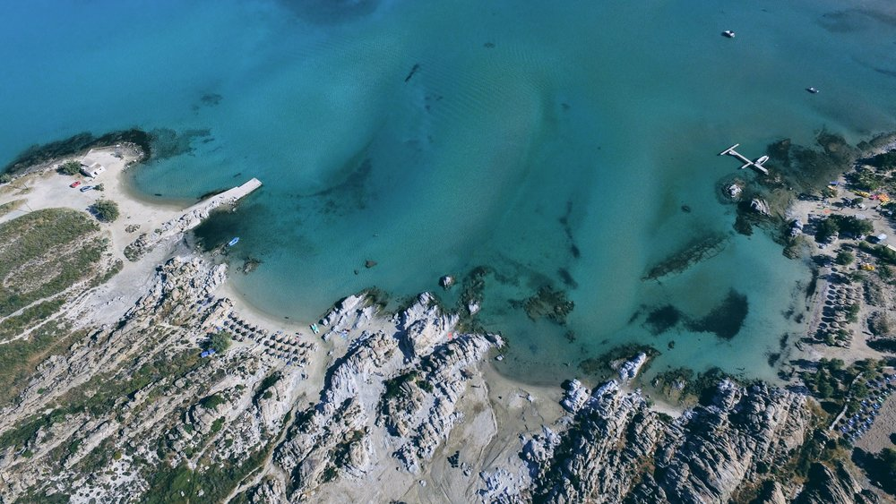 The rocky bay of Kolybithres near Naoussa