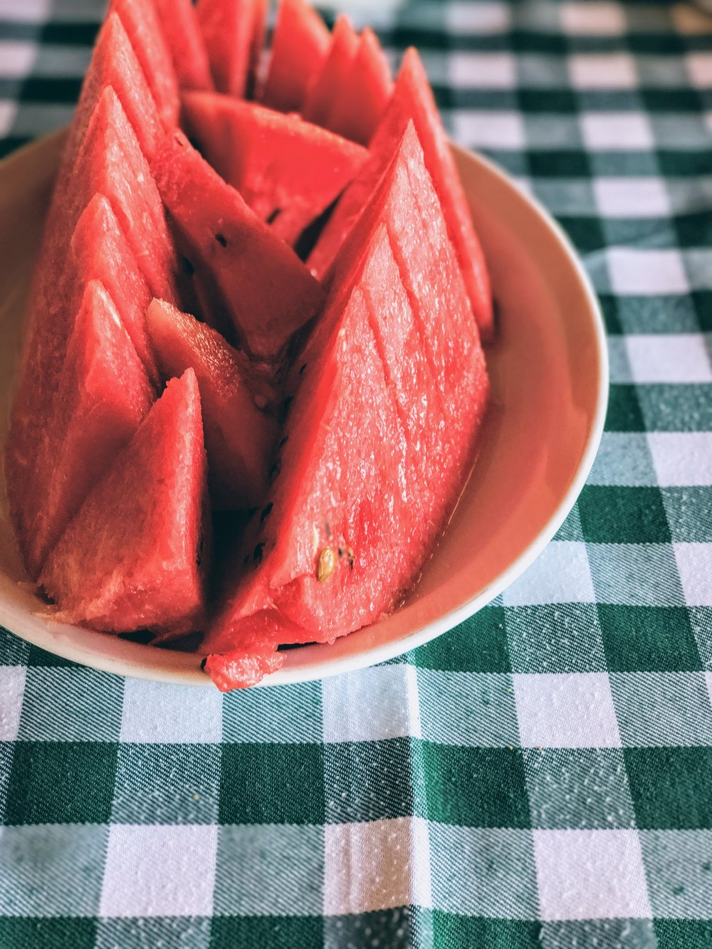 Fresh and cold watermelon