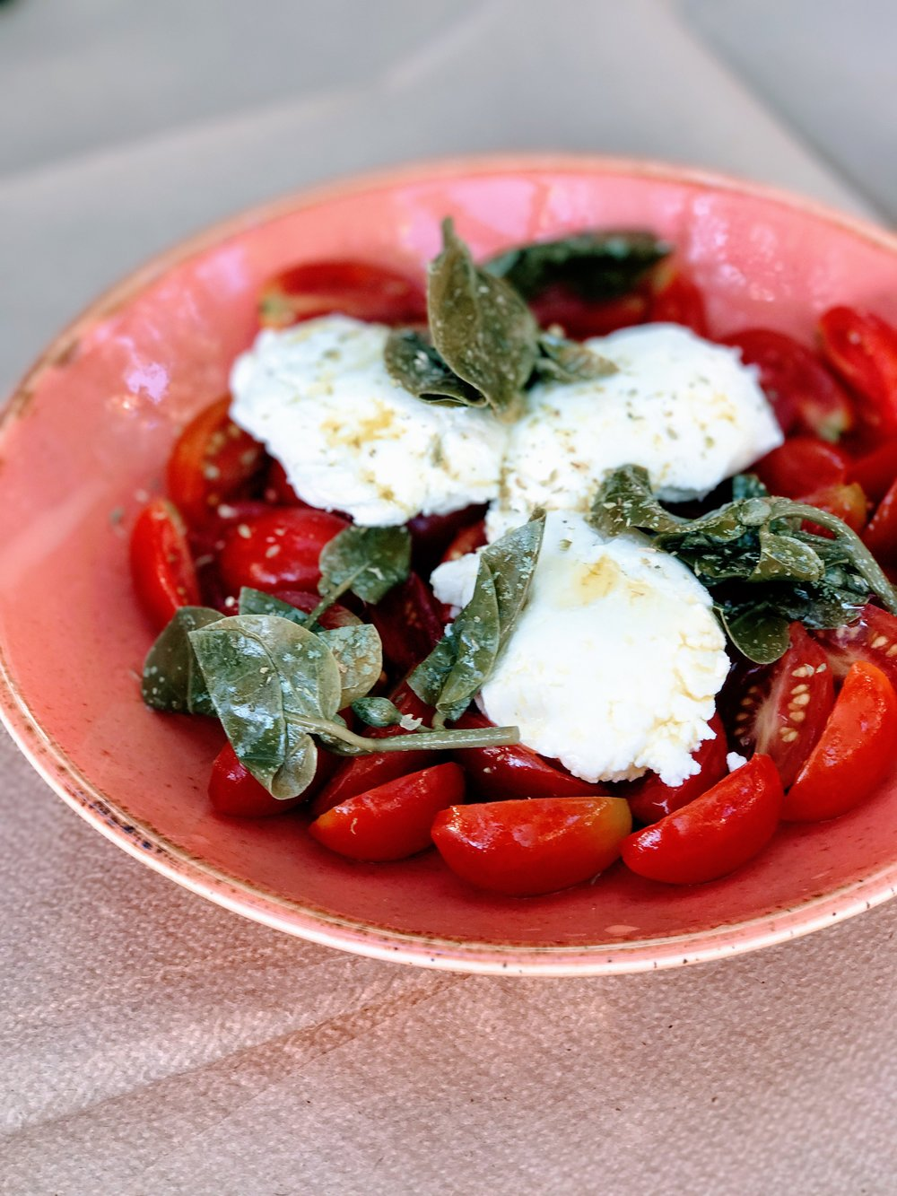Tomato caper salad at Klimataria taverna