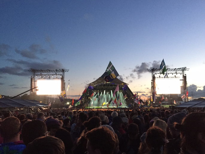 One of the stages at the Glastonbury Festival