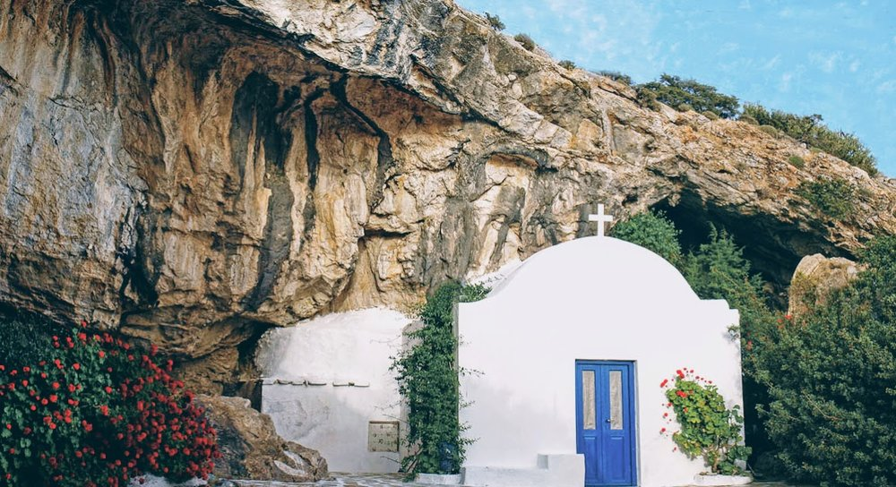 Ai Giannis Spiliotis church at the Antiparos Cave