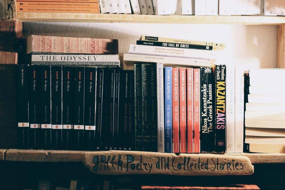 Atlantis bookstore in Oia