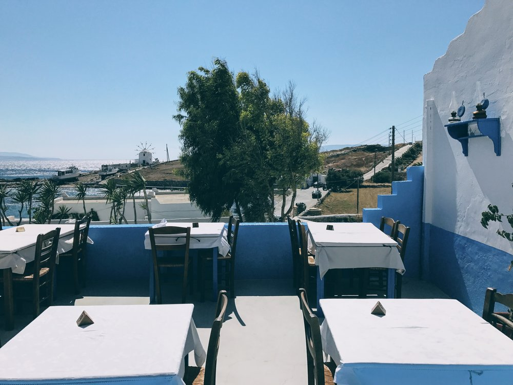 The view from Captain Nicolas tavern