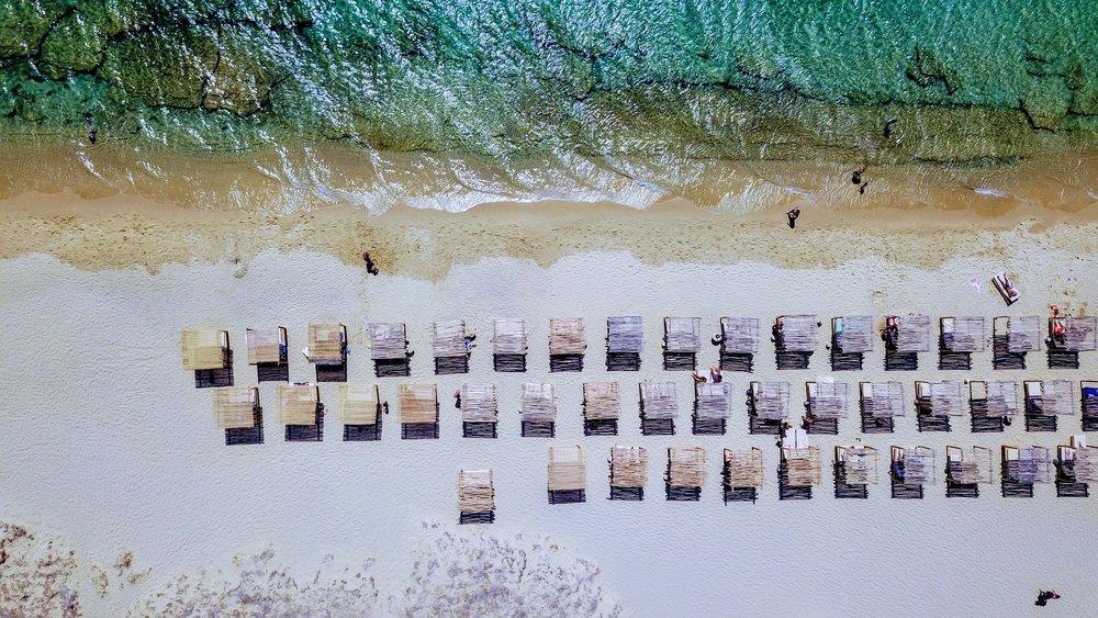 Aerial view of Tortuga Beach Bar