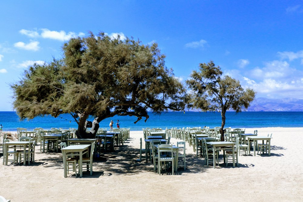 Gorgeous setting right by the beach at Taverna Paradiso