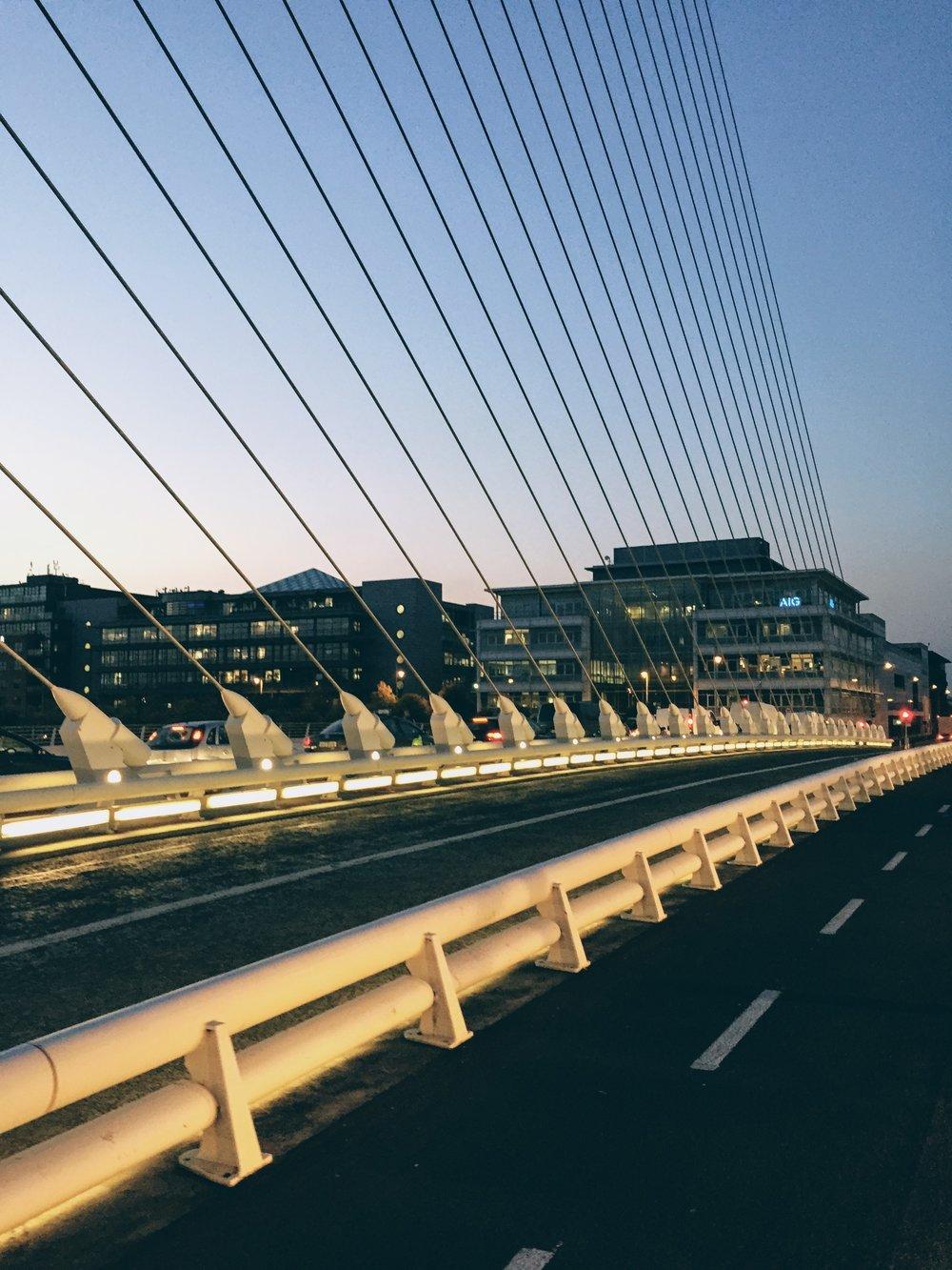Samuel Beckett bridge on River Liffey
