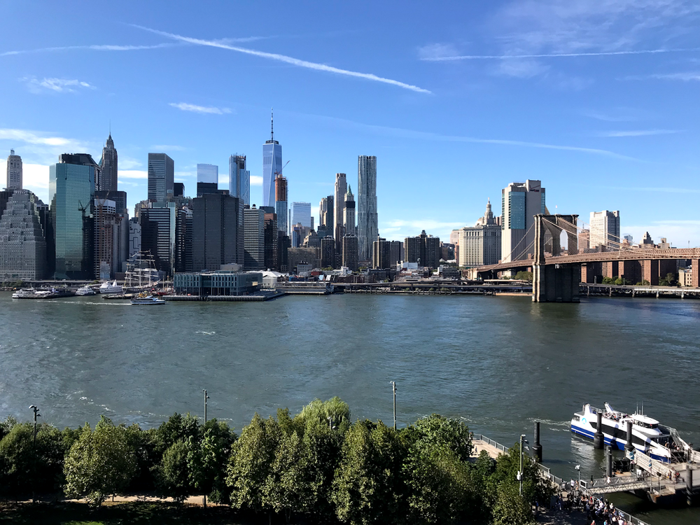 The view from the rooftop of 1 Hotel Brooklyn Bridge