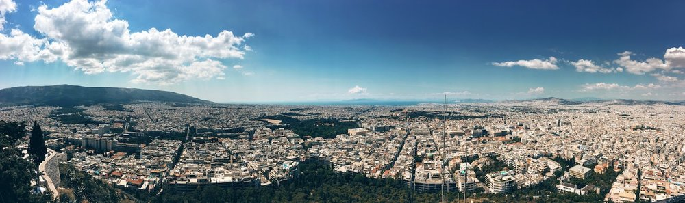 The view from the top of Lycabettus Hill