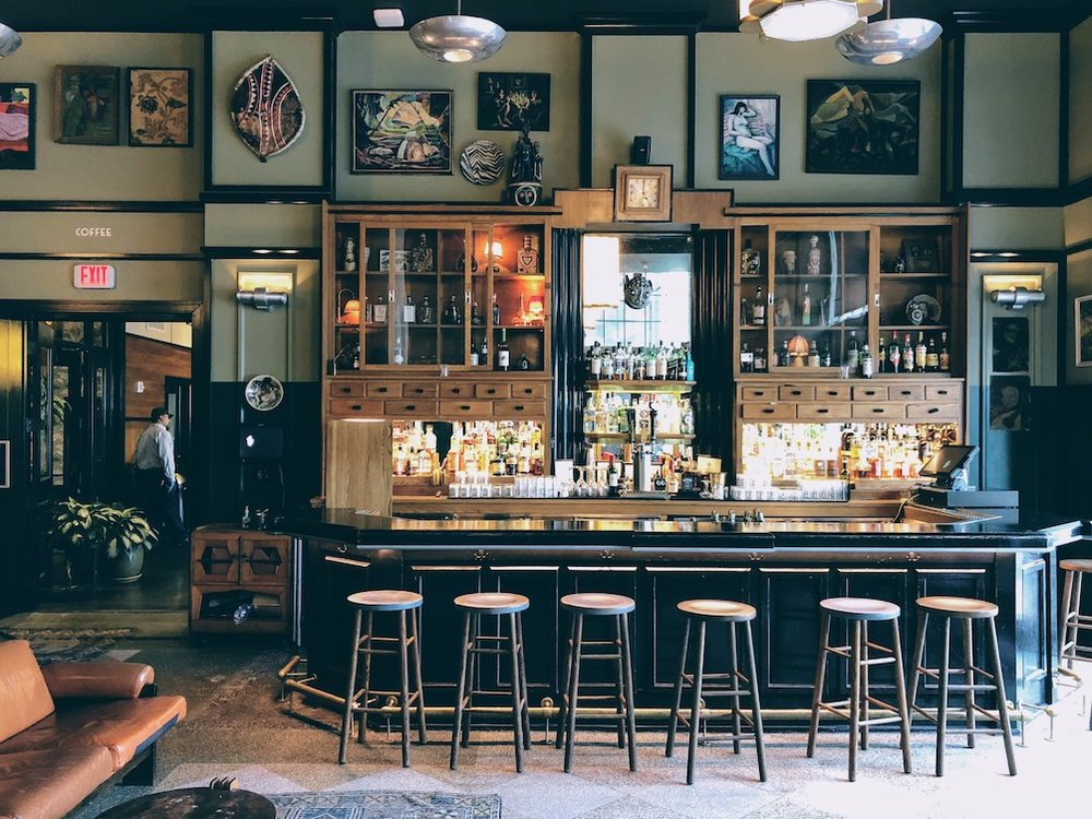 Lounge bar at the hip Ace Hotel