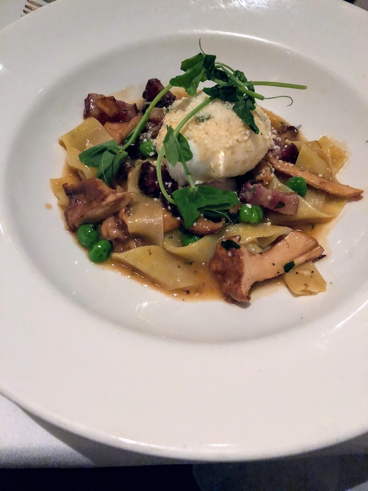 Mushroom carbonara at Commander's Palace, Uptown