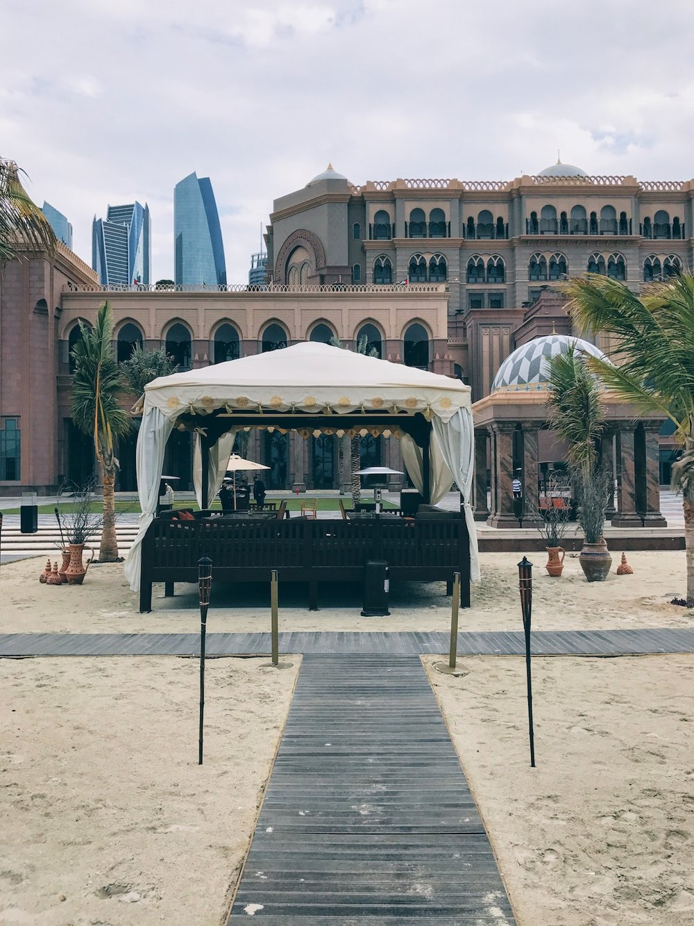 Beachfront at the Emirates Palace Hotel