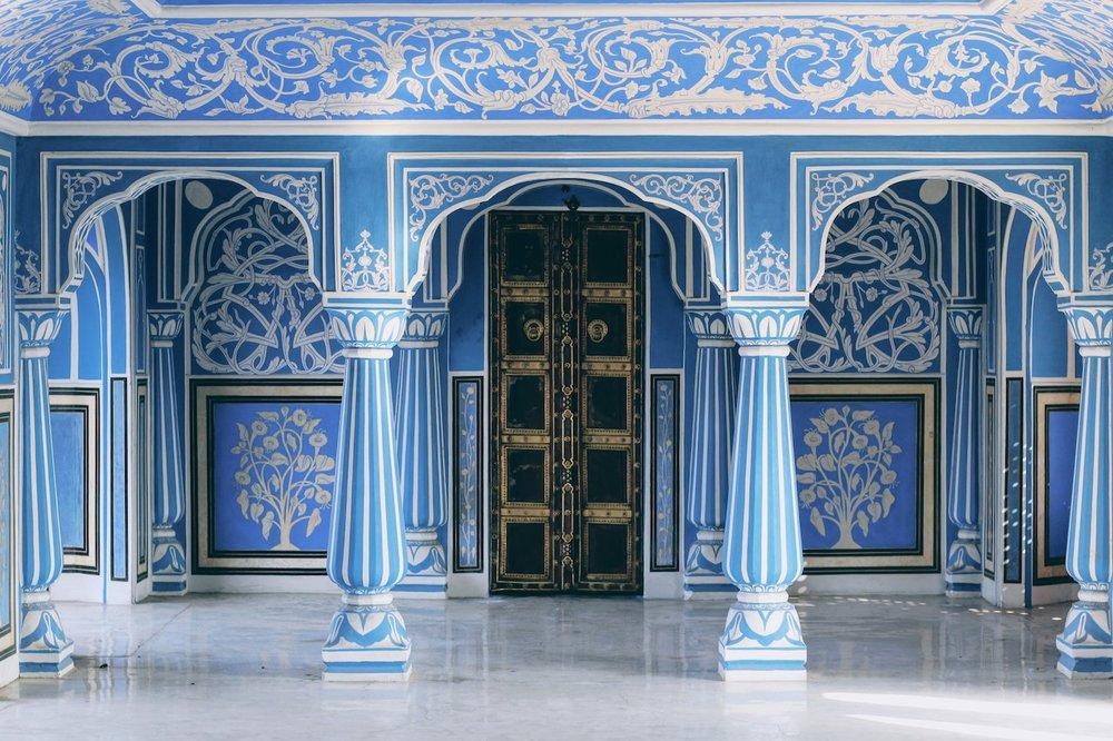 The Sukh Niwas Blue Room inside city palac