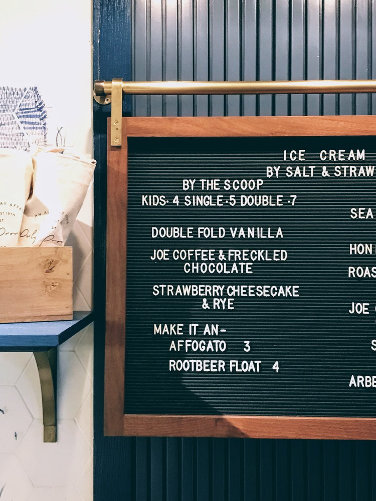 Ice Cream menu at Daily Provisions