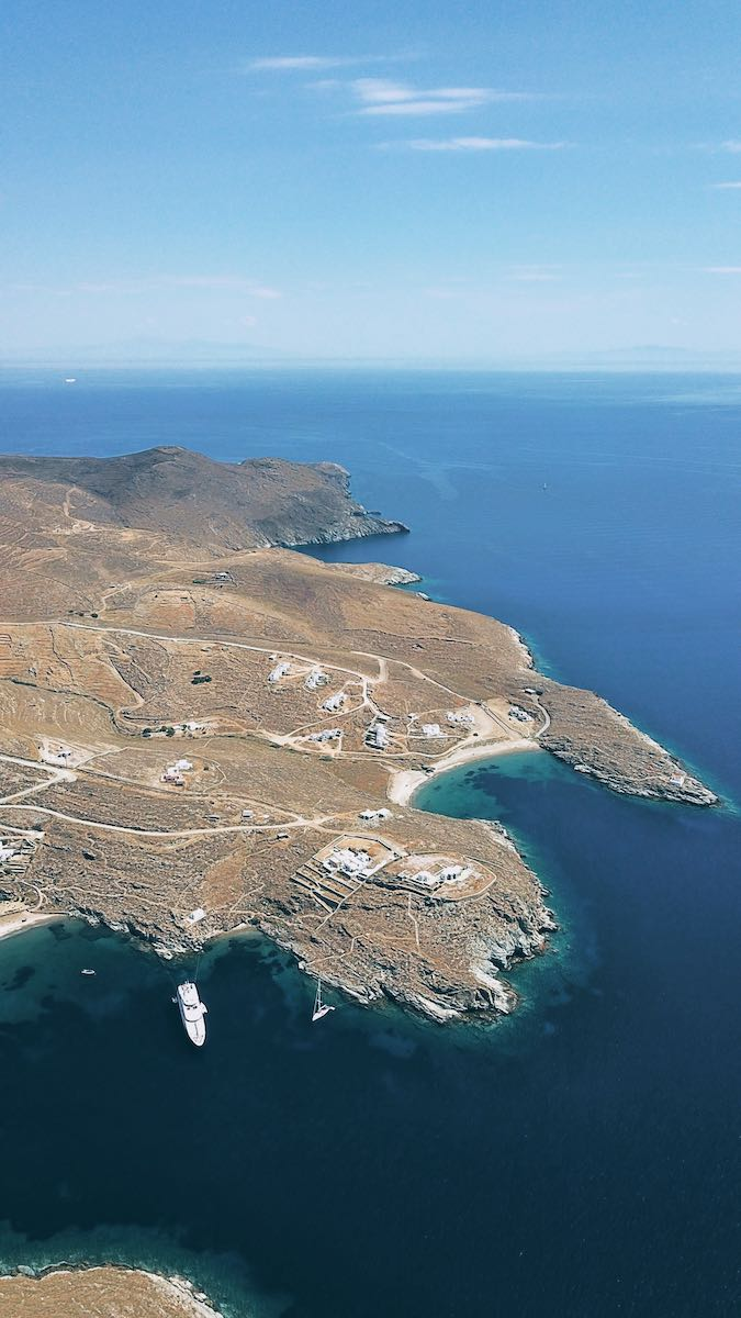 Aerial view of Agios Sostis bay