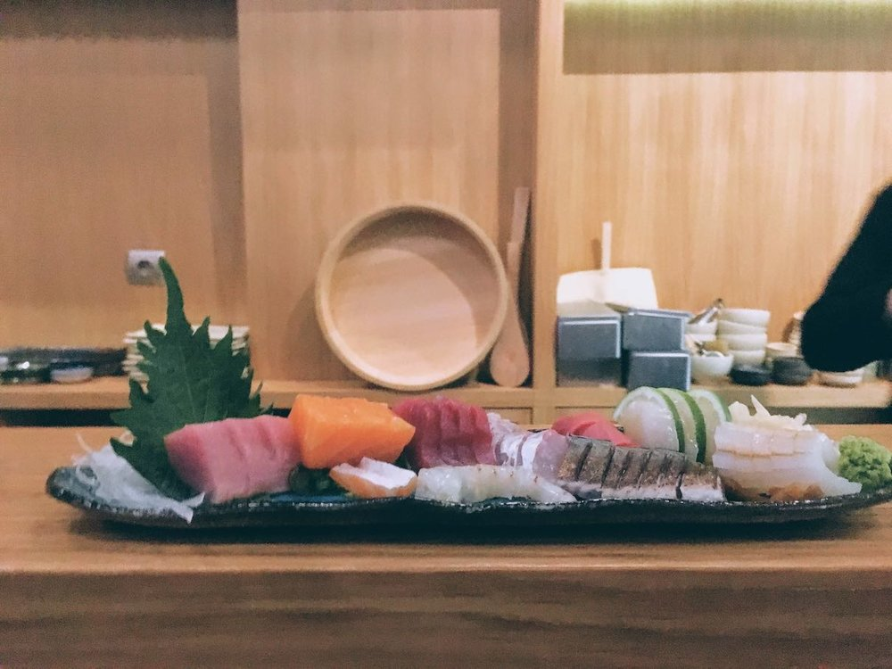 A sashimi selection at Sushimou