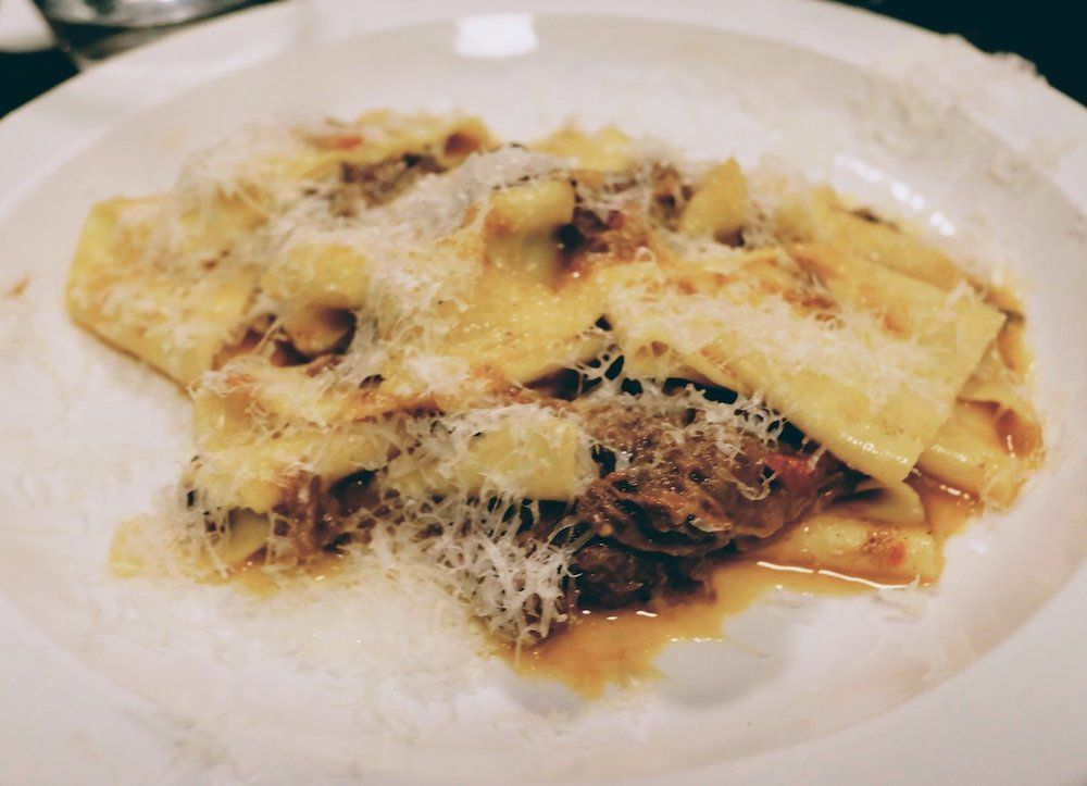 Pappardelle with 8 hour Dexter beef shin ragu