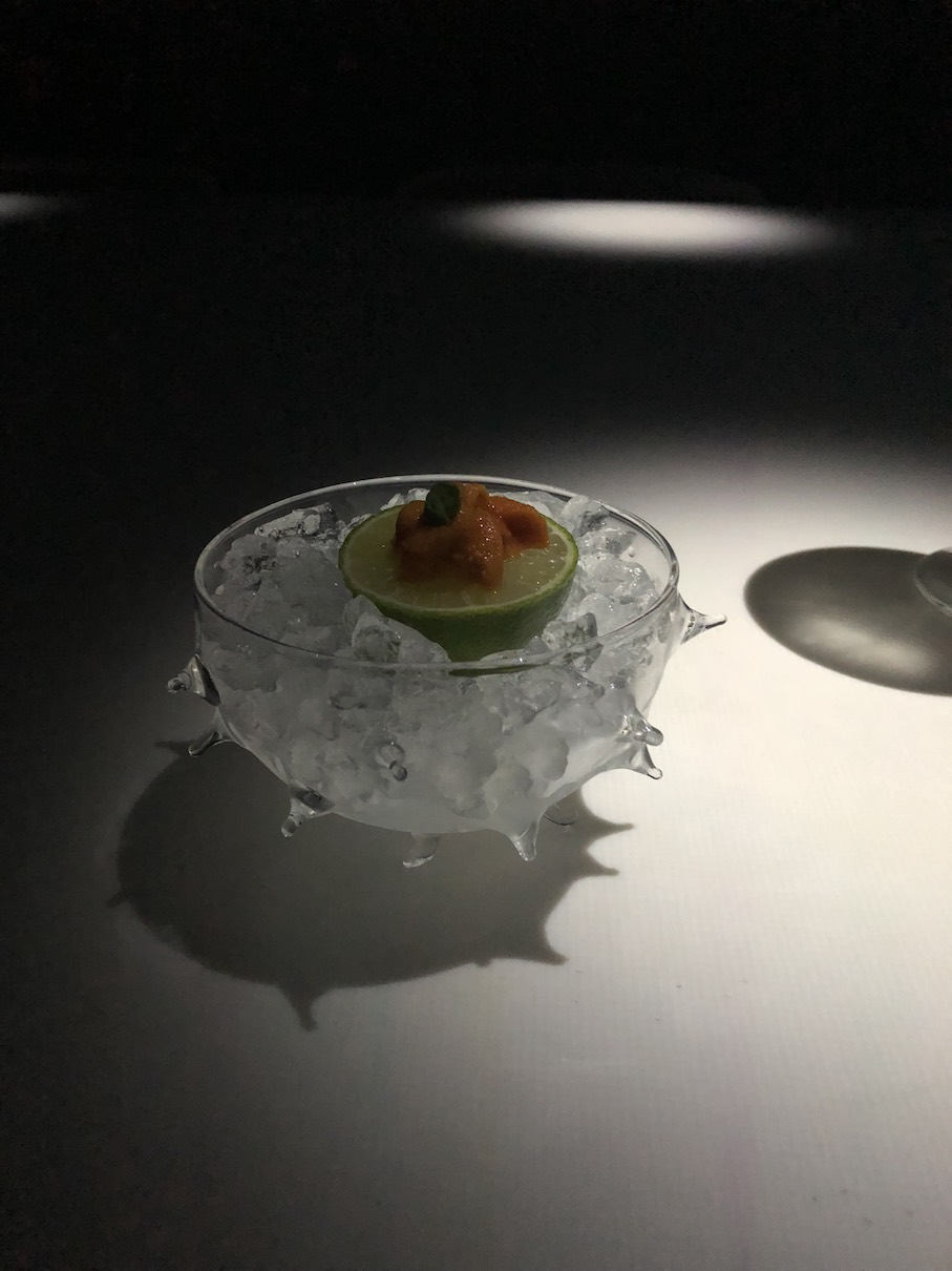 One of the more minimal and elegant flavours we tasted was the sea urchin dish.
