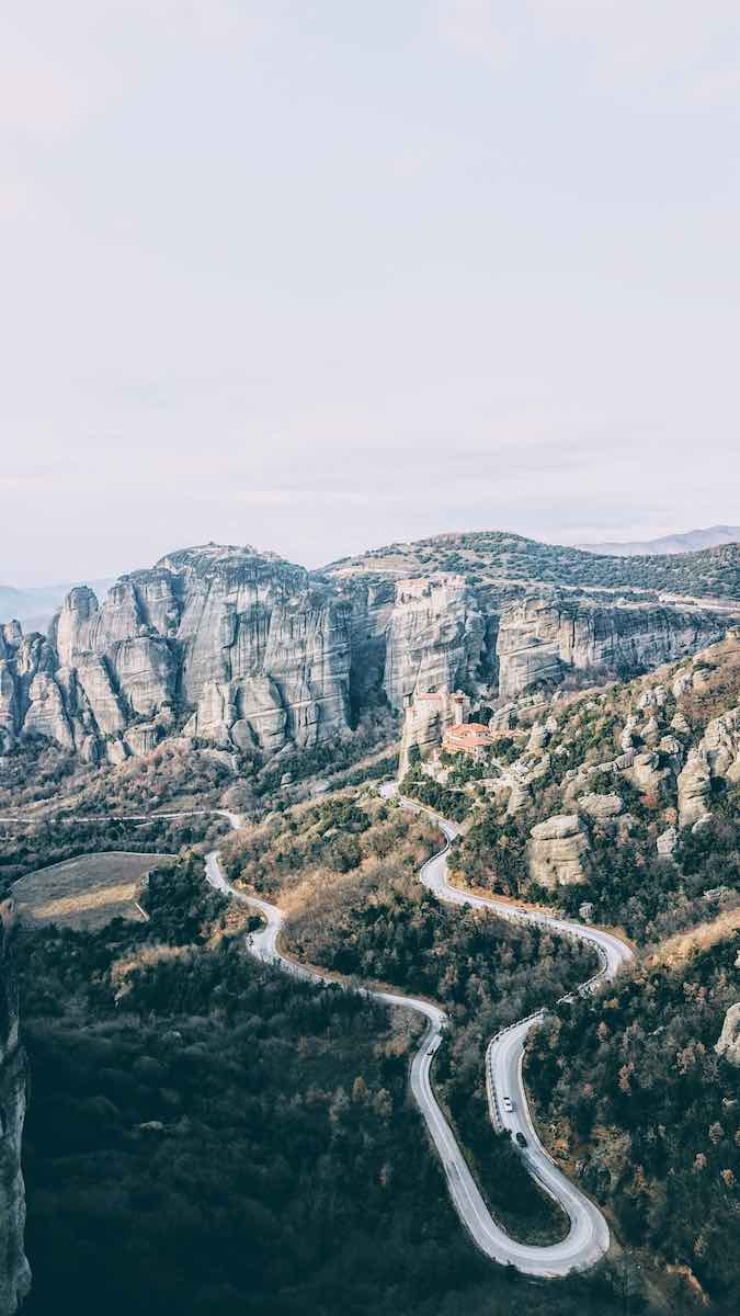 The descend from Meteora to the town of Kalabaka is magical!