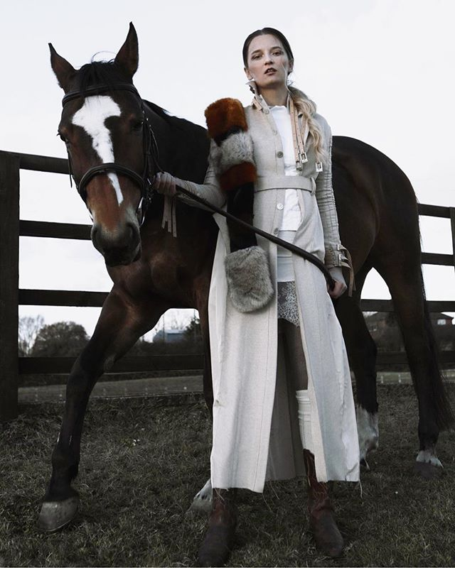 POLOSOPHIA Archives Oracle coat and Snö Pristine top in an editorial art directed by @kayaltamira 📷shot by @_carinaphoto 👘 styling @lucylach 💋 MUA @zhenya_stoyanova 💇🏻‍♀️ hair @eryk_glowacki_ 🧝🏼‍♀️ protagonist @wnukjolanta ✨ #polosophia #theoriginalprotagonist
