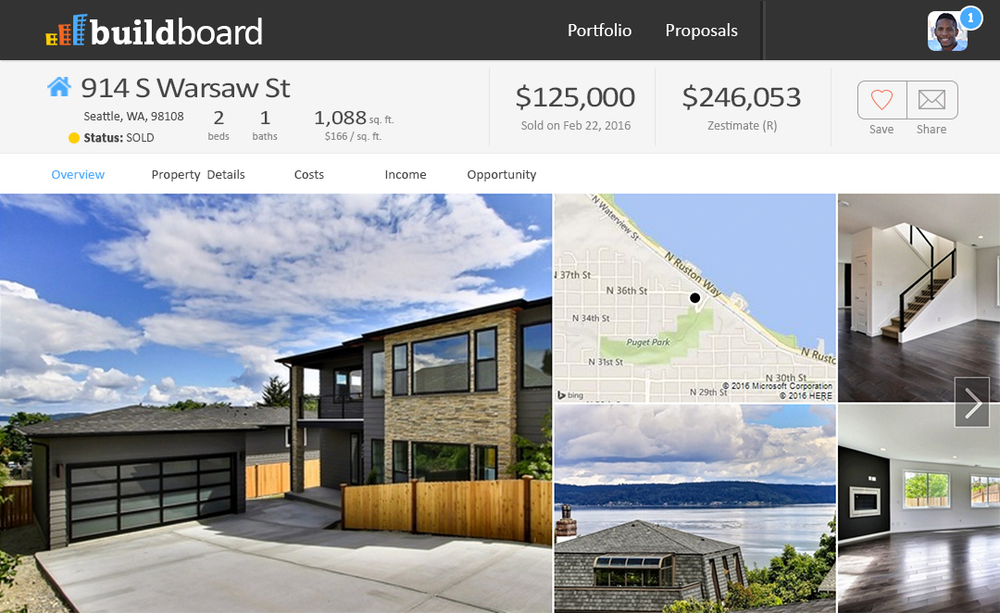 BuildBoard Property View