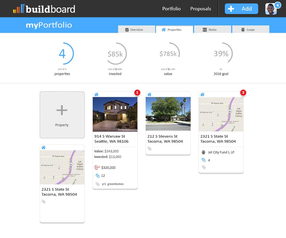 BuildBoard Portfolio View