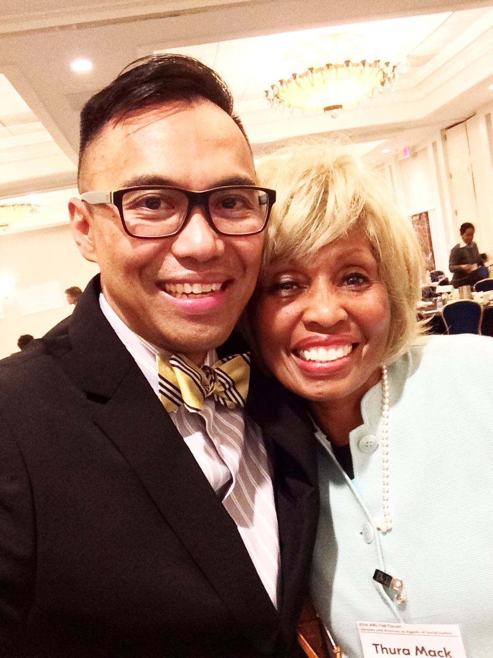 Big hugs with Thura Mack, Professor  Coordinator, Community Learning Services & Diversity Programs The University of Tennessee, Knoxville