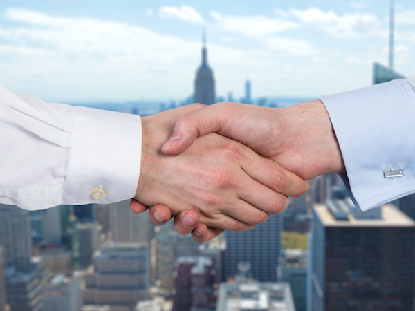 business handshake in nyc