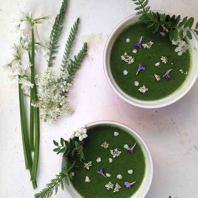 #nettle & #3corneredleek soup