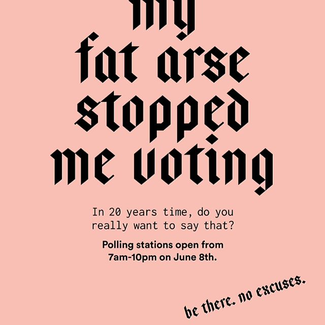 Friends of our's have created these graphically satisfying posters - share of you want to remind someone not to miss the vote - here's hoping for a step closer to utopia 💚🖖🏽💚 #ukelection #ukelections #ukvote #voteforcorbyn #forthemanynotthefew