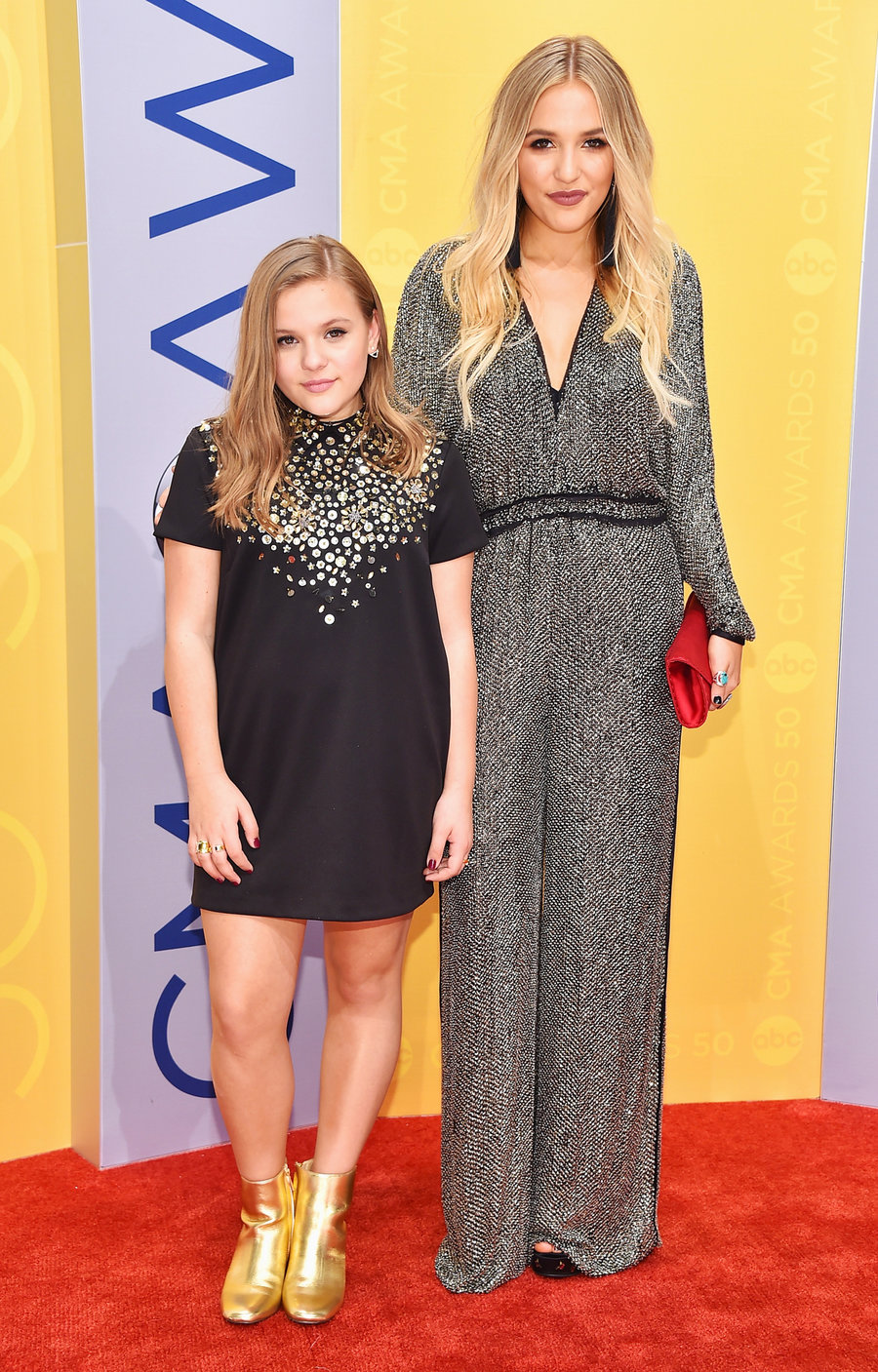 Maisy & Lennon Stella  CMA 2016  Glam on Maisy: Brittney Head  Glam on Lennon: Meg Boes  Style: Tiffany Gifford