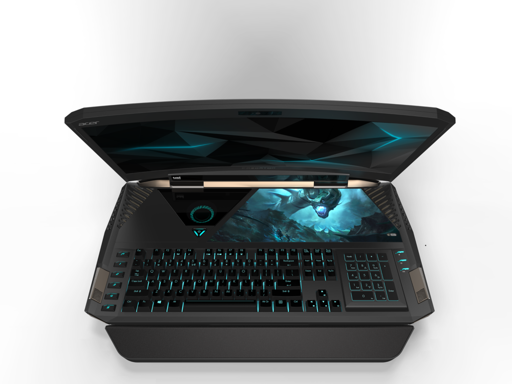Source: Acer |  A closer look at the Predator's curved 21-inch Display, Cherry MX Keyboard, and the reversable number pad/trackpad.