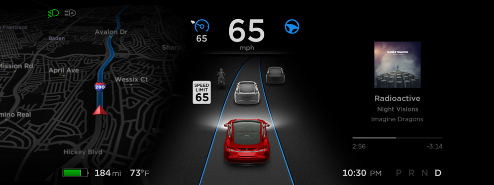 | Source: Electrek,co | - A closer look at Tesla's dashboard.