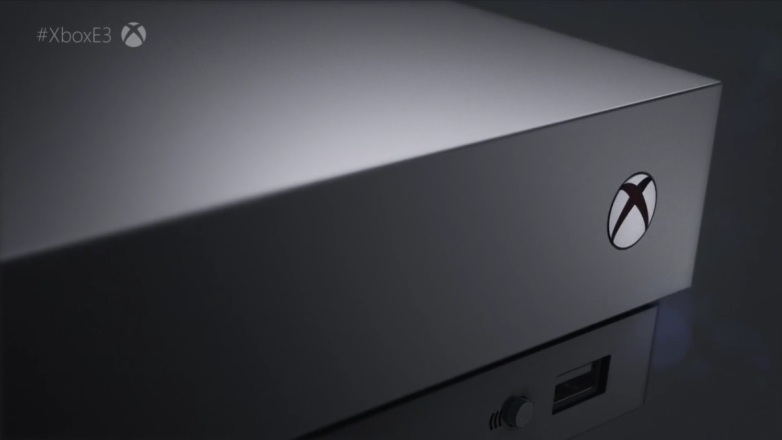 | Source: Microsoft | A close look at Microsoft's new Xbox One X.