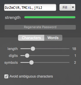 1Password's Password Generator