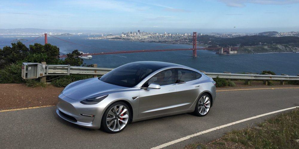 | Source: Tesla | A photo of the Model 3