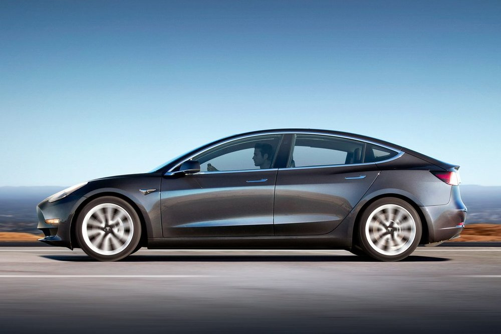 | Source: Tesla | A closer look at the Model 3's exterior.