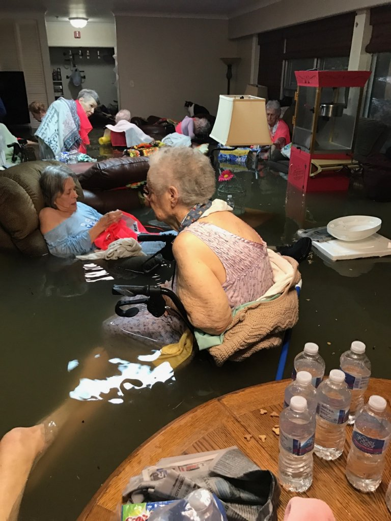 THIS IMAGE IS REAL | It is a photo of a Senior Living Center outside of Huston, Texas, just one of thousands of locations currently in life and death living situations.