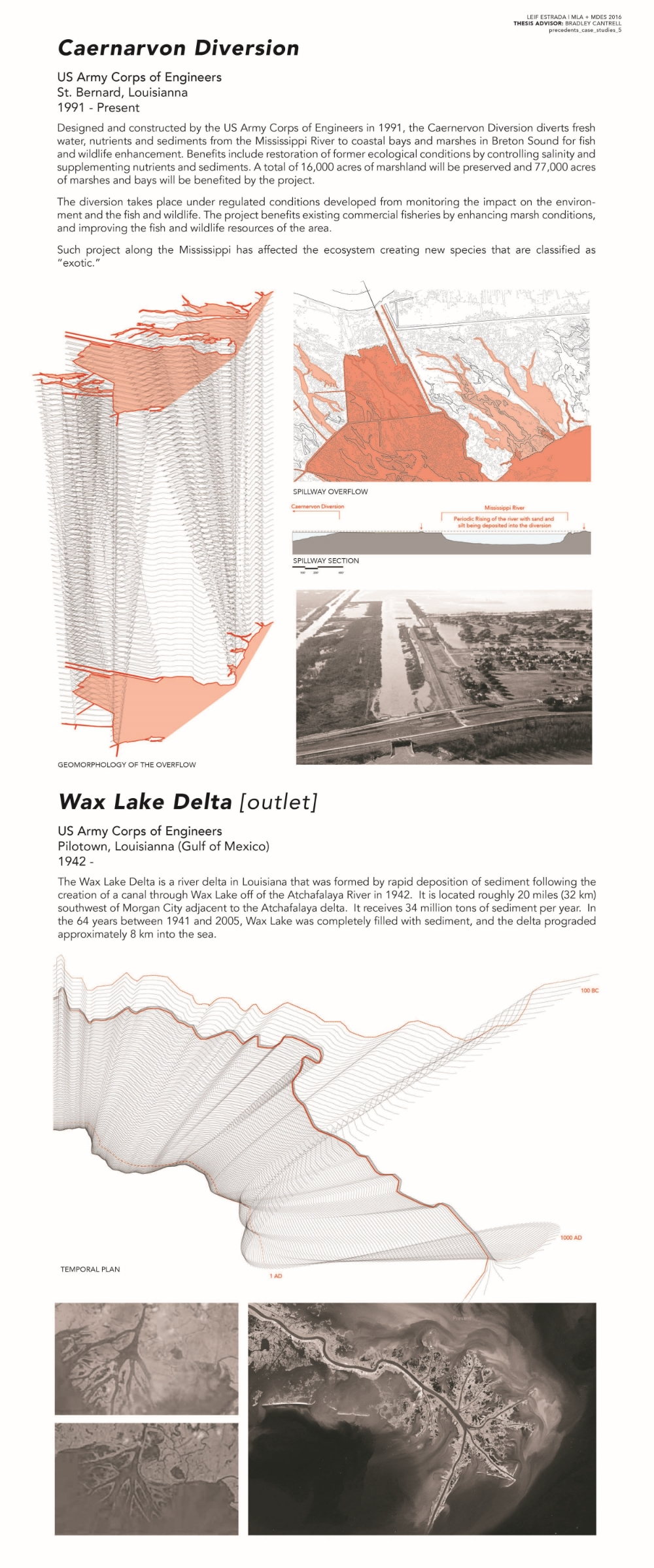 Caernarvon Diversion + Wax Lake Delta