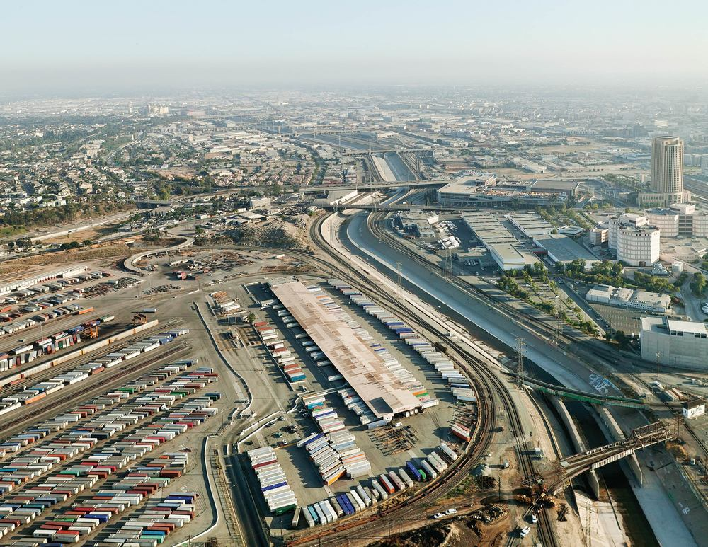 Aerial Image of the LA River, 2008, Image used with copyright permission from Lane Barden
