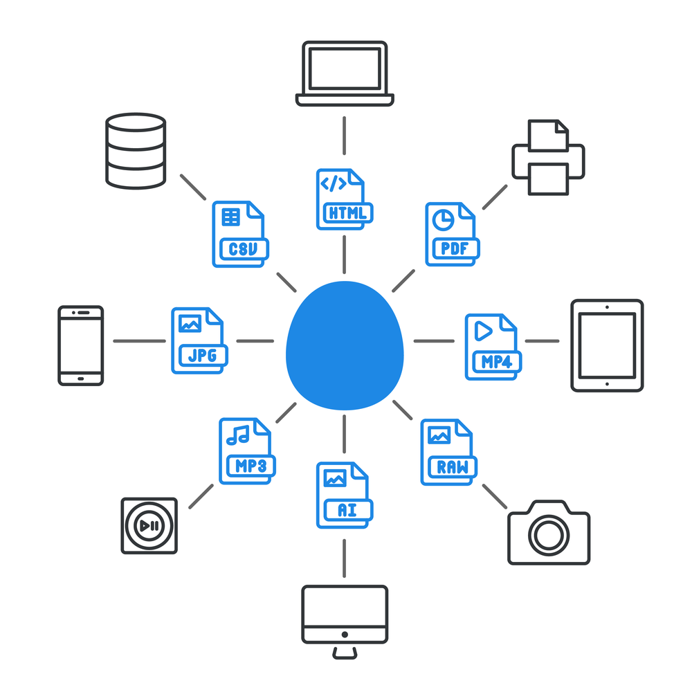 THE EGG WORKS WITH MOST DEVICES AND SUPPORTS VIRTUALLY ALL FILE TYPES