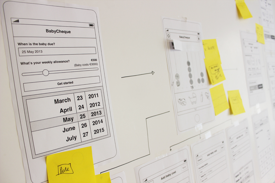 Wireframing & task flows