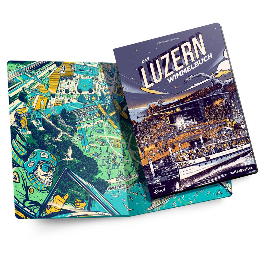 Das Luzern Wimmelbuch vom Luzerner Illustratoren Amadeus Waltenspühl