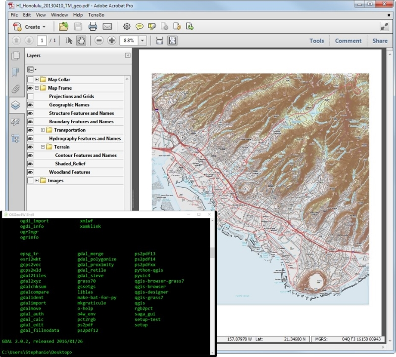How to convert geopdf to geotiff using GDAL — open gis lab