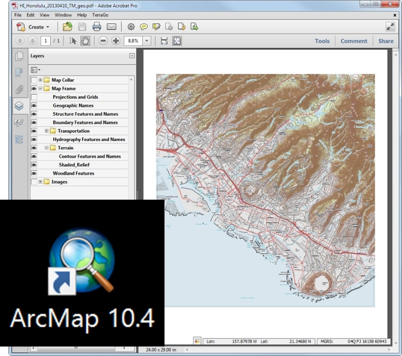 How to convert geopdf to geotiff using ArcGIS — open gis lab