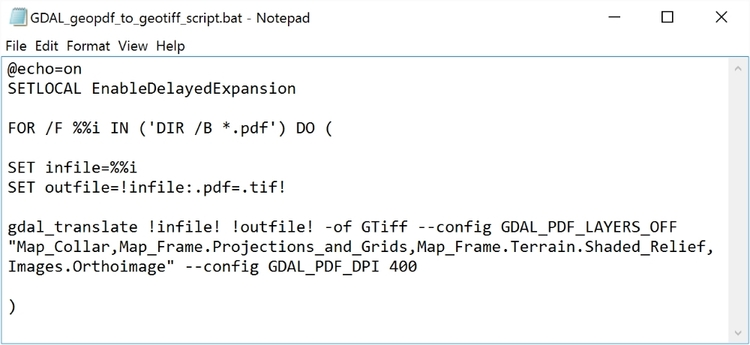 How To Convert Geopdf To Geotiff Using Gdal Opensb