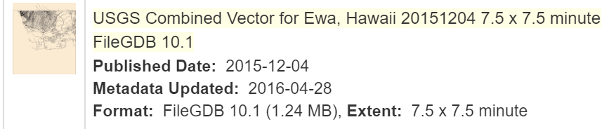 USGS staged TNM data available for Hawaii, last checked on 5/21/2016 - only data for Ewa quad is available.A