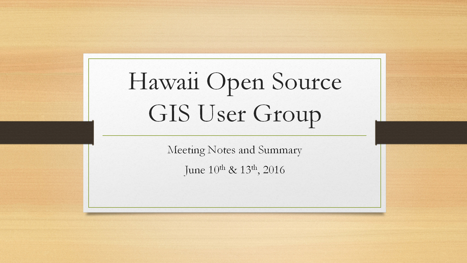 Open Source GIS User Group Meetup - Notes & Summary — open