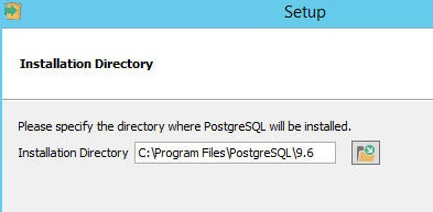 Specify installation folder or use the default