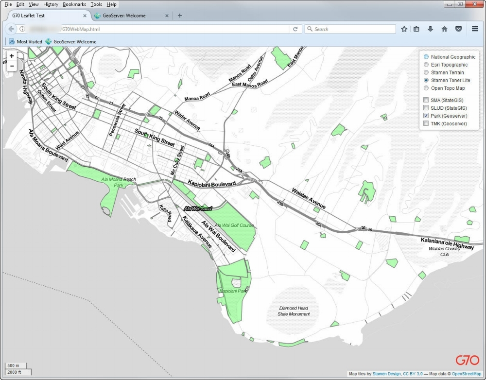 Leaflet map showing layers from my GeoServer